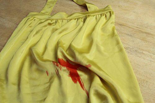 застарелые и сухие пятна крови