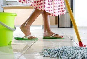 мытье кафельных полов