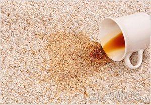кофейные пятна на ковре