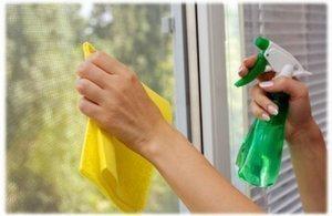 подготовка к мытью пластиковых окон