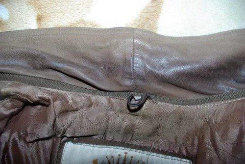 Как убрать блеск с обшлага куртки